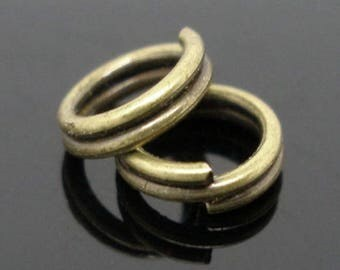 50 bronze double 8 mm rings, ref3