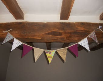 Colorful patterned Bunting
