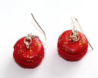 Christmas colors macaroon earrings