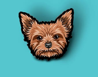 Yorkshire Terrier pin | Pet dog brooch | Dog Lover Gift | Pet Loss Gift |