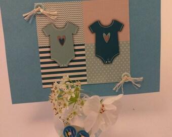 scrapbooking for boy handmade birth card