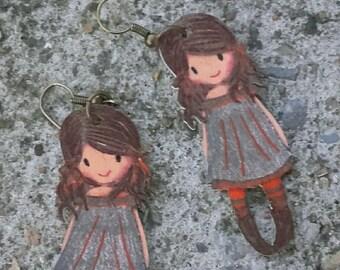 Fancy little girl earrings