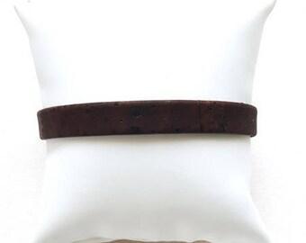 Bracelet 1 cm wide chocolate Cork