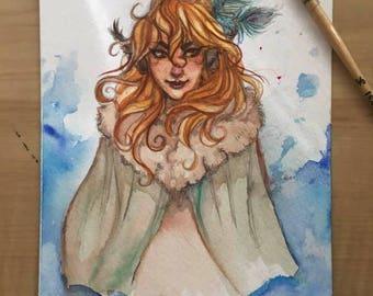 Demon Original Watercolor