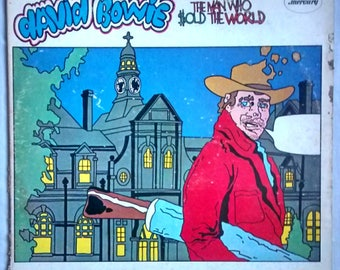 RARE David Bowie-The Man Who Sold the World-US Cartoon Cover-1970-SR 61325-Mercury