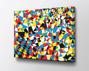 Abstract Art - Canvas Wall Decor - Modern Wall Art - Original design by Epik - Geometric Art - Triangle Fields