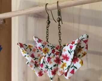 Fabric origami earrings / jewelry origami / fashion accessory