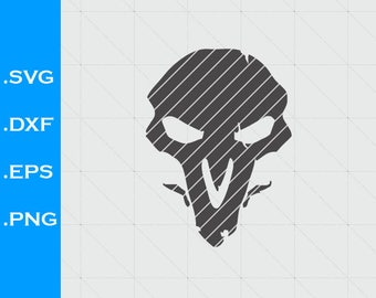 Overwatch Reaper Inspired, logo,  SVG file, Clipart, EPS, DXF, for decals, Vector, Silhouette Studio, videogames,  scal, sure cuts a lot