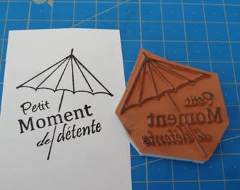 Unmounted - rubber stamp to relax