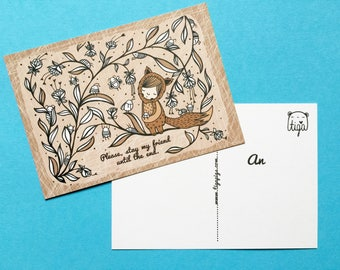 "3x Eco Postcard ""Stay a Friend"""