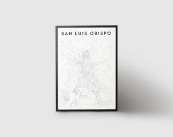San Luis Obispo Map Print