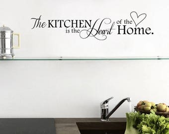 Kitchen Wall Quotes, Wall Decals, Wall Quotes, The Kitchen, Heart Of The
