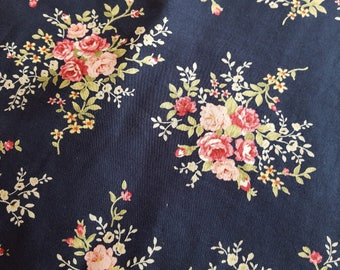 Navy floral travel change mat