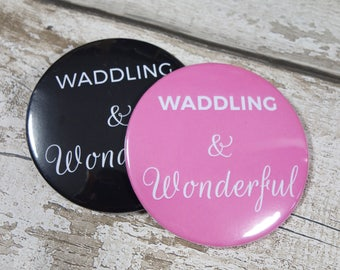 Waddling and Wonderful Pregnancy Pocket Mirror: New mum, Mum to Be, Christening, Baby announcement, Baby Shower, Gift For Her idea