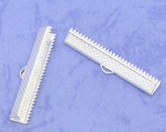 claw tip to Ribbon 35 mm clip crimp silver