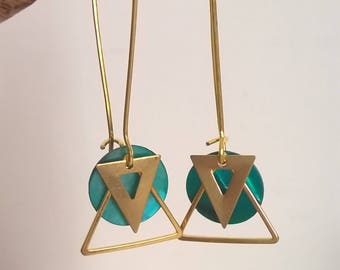Fine gold turquoise earrings