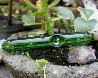 Cactus Succulent Pipe with Glass Marbles | 6""