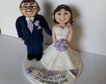 Personalised Clay Cake Toppers for all occasions.