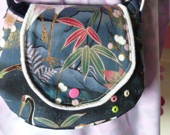small Japanese fabric Messenger bag