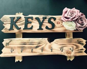 Key rack handmade