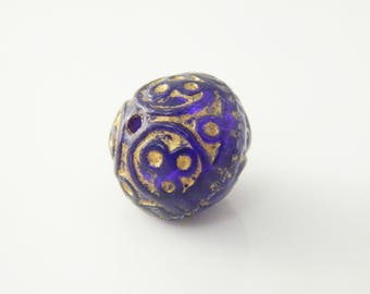 1 x 17mm purple round bead (l220)