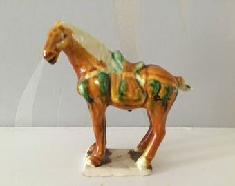 Vintage Chinese ceramic horse
