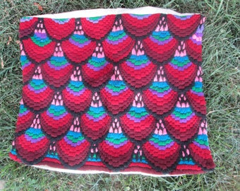 Antique hand- embroidered pillowcase,Handmade pillowcase with traditional bulgarian embroidery