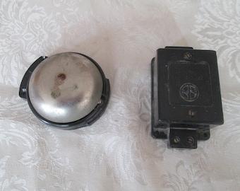 Vintage electric bell, Door bell,  Electric door bell, Working bell, Retro home decor, Vintage garage decor, Vintage bell, Wall alarm