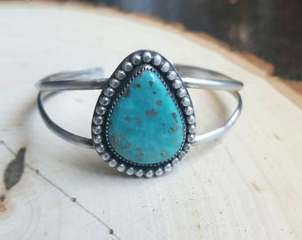 Campitos Turquoise Sterling Silver Cuff