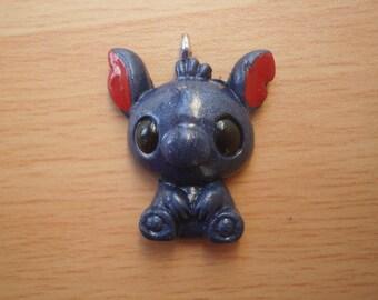 Cute animal pendant dark blue