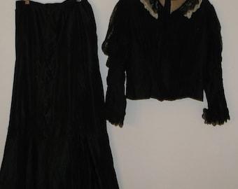 Vintage Victorian Mourning Dress