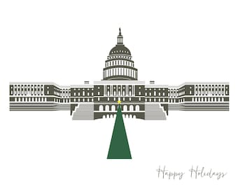 Washington DC Holiday Card, US Capitol, A2