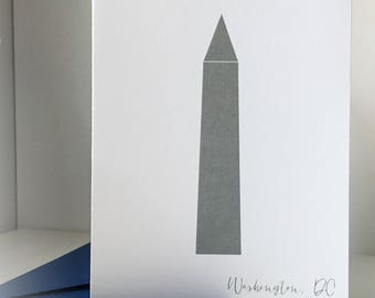Washington DC Greeting Card Washington Memorial Card A2