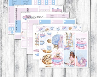 Snuggle In Classic Happy Planner Weekly Sticker Kit // Weekly Sticker Kit // Winter Weekly Kit // Classic Happy Planner Stickers