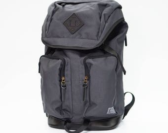 Racoon Backpack DARK GREY, Leather bottom, high quality, backpack men, large volume, laptop backpack, travel backpack