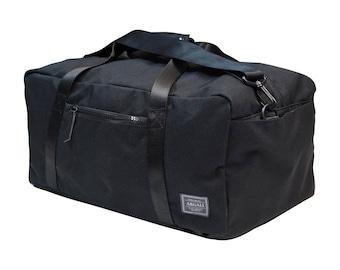Snow Leopard 3-Way Bag BLACK, Convertible Bag, (Backpack, Shoulder Bag, Handbag Transformation)