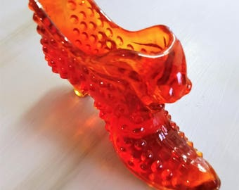 Vintage Fenton Glass Slipper/Shoe (Puss and Boots)