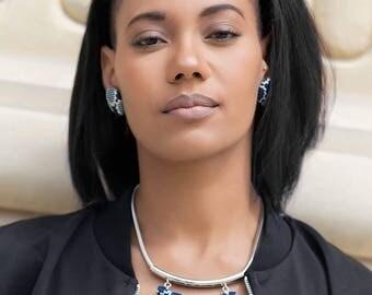 Isis Bina wax (Ankara) jewelry necklace