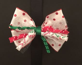 Red and White Polka Dot Corker Bow