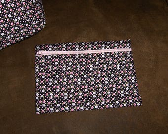 Pink/Black pouch