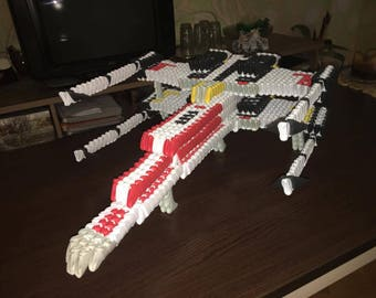 Star wars X Wing Starfighter 3D origami Space Ship