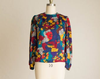 Vintage 80's Multi-Color Blouse