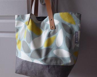 Large bag to order 100% handmade creation original worn genuine leather hand or shoulder handles, on