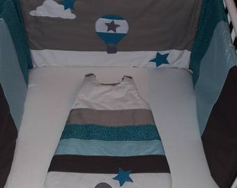 "All sleeping bag and bed Tower / sleeping bag personalized ""hot air balloon/cloud/Star"""
