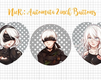 NieR: Automata Heart/Circle Buttons