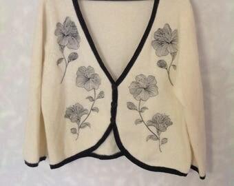 Vintage Kaleidoscope embroidered bolero size UK 20