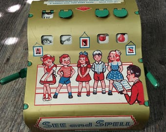1950's Tin See and Spell