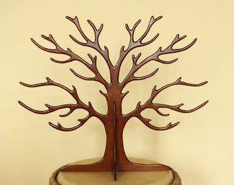 Made of wood (medium 6mm) dark tree