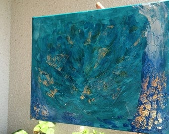 The Blue Lotus painting