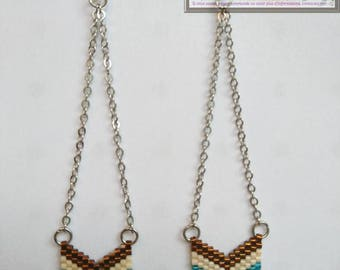 These earrings. Chevron beads Miyuki